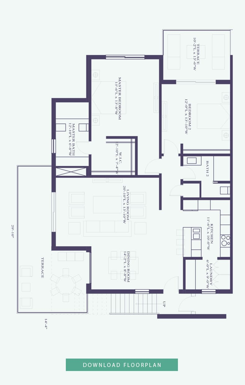 Pentouse floor plan - luxury home for sale