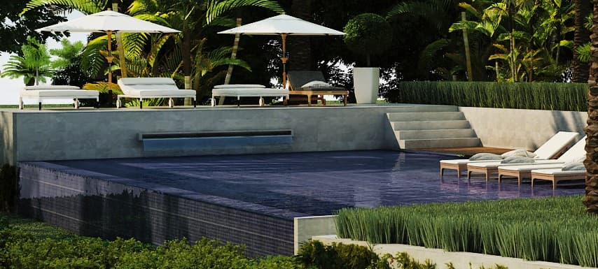 Infinitiy Pool at Thirty Six Paradise Island