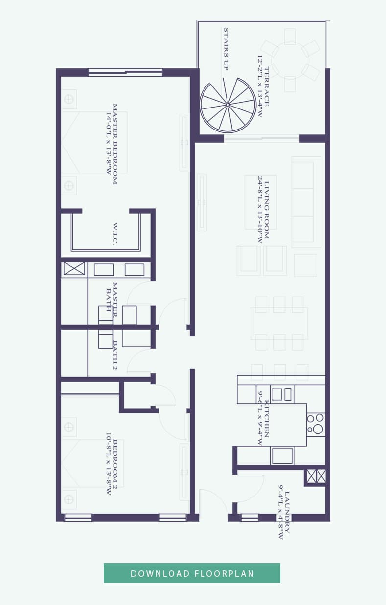 Penthouse Interior Floor plan - Thirty Six Paradise Island