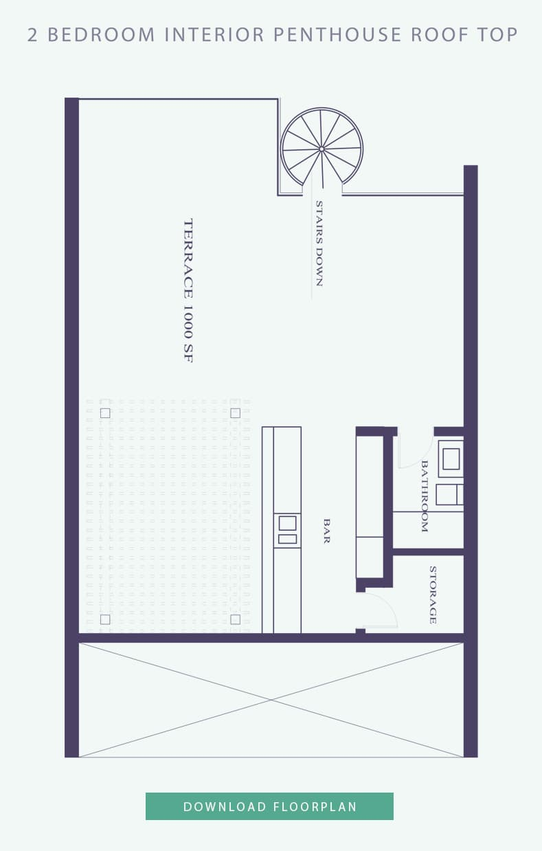 Luxury home for sale Paradise Island, Bahamas - Penthouse Floor interior floor plan