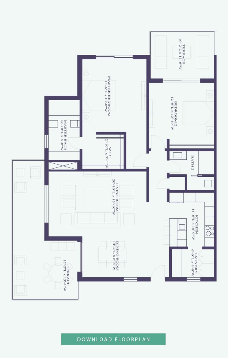 2 bedroom exterior floor plan - Bahamas Homes for Sale