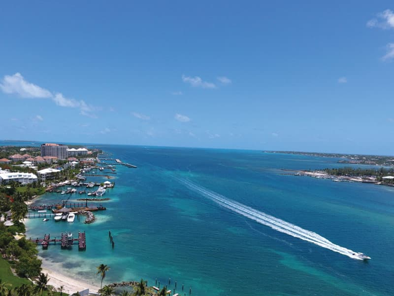 Harbor between Paradise Island and Nassua, The Bahamas