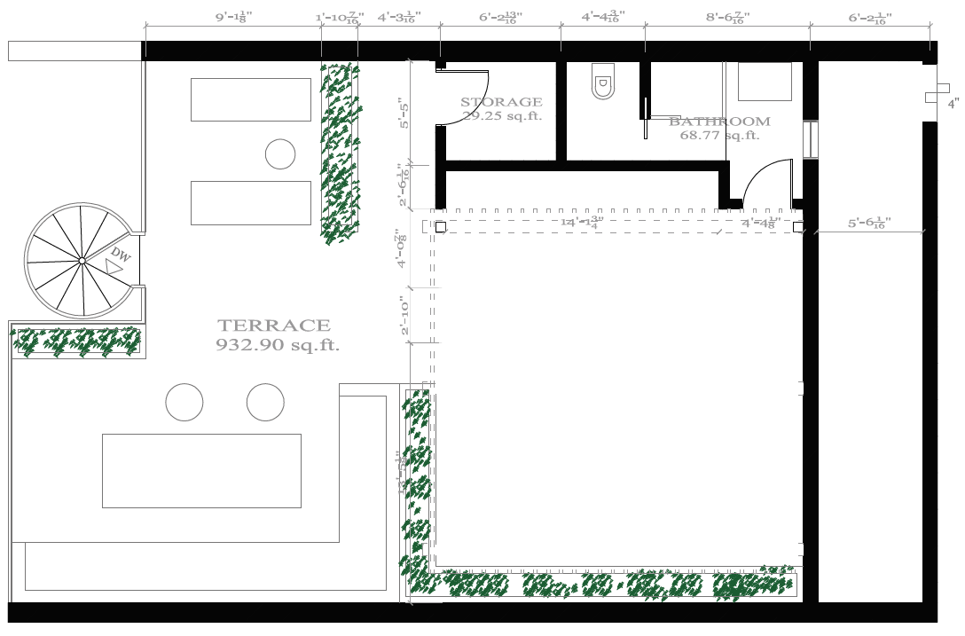 2 Bd Penthouse terrace